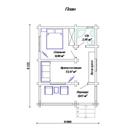 План дома из бревна Арктик