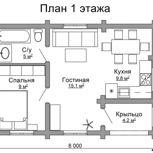 План дома из бревна Астрахань