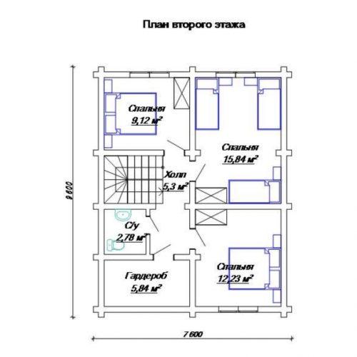 План дома из бревна Базилик