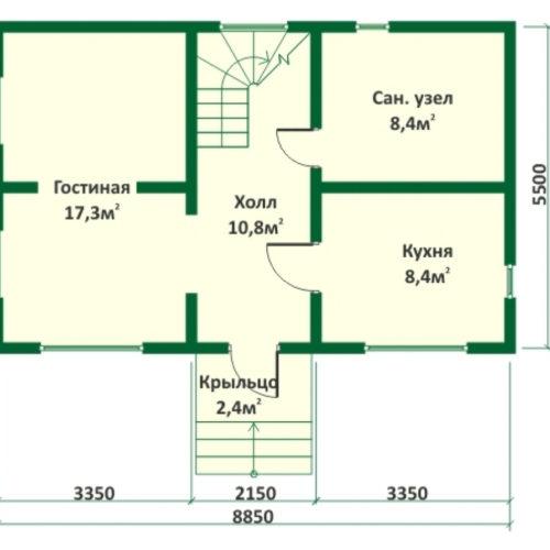 План дома из бревна Бор