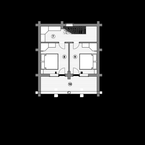 План дома из бревна Весус