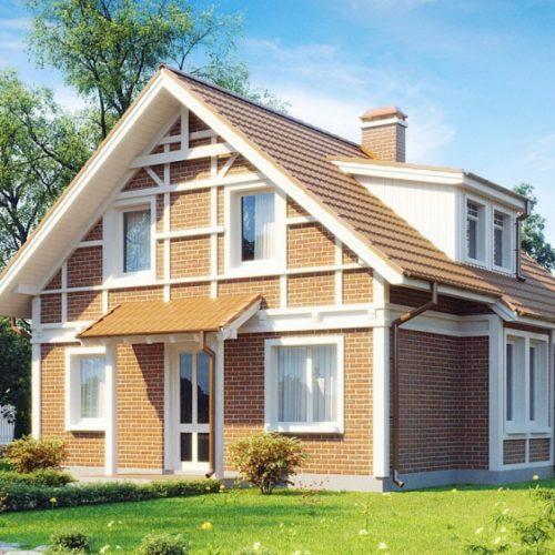 Проект кирпичного дома Лариса