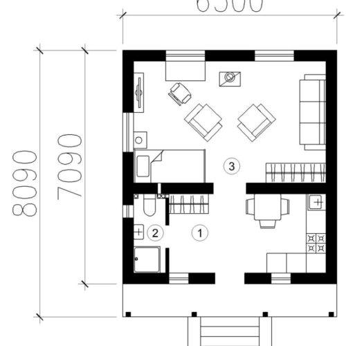 План дома из газобетона Мое место
