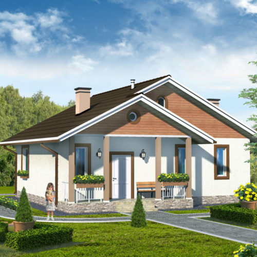 Проект дома из газобетона Нежный