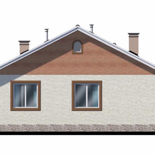 Вид дома из газобетона Нежный
