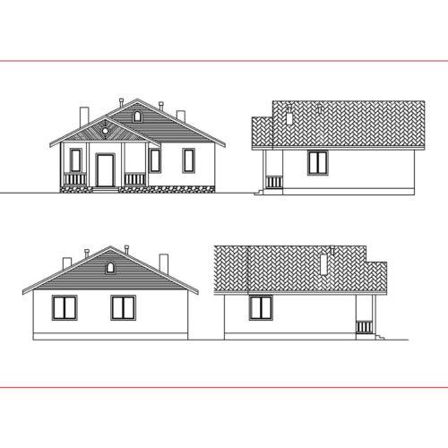 Фасад дома из газобетона Нежный