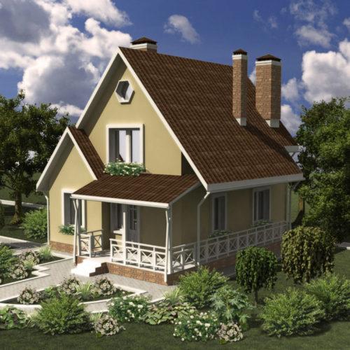 Проект дома из газобетона Русановка