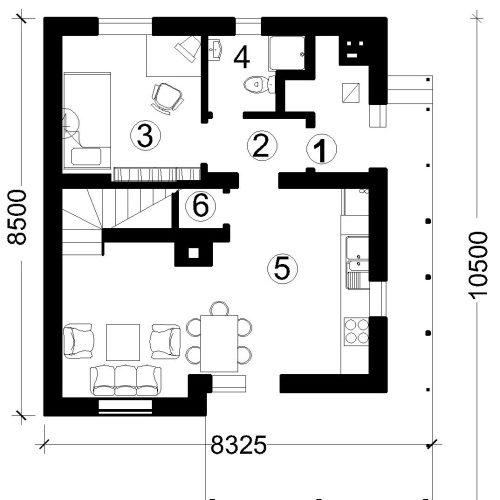 План дома из газобетона Русановка