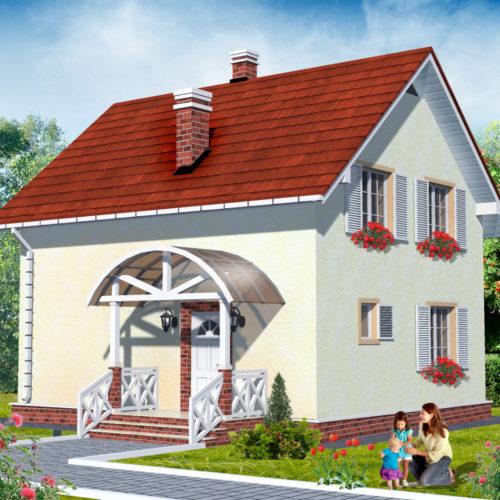 Проект дома из газобетона Рута