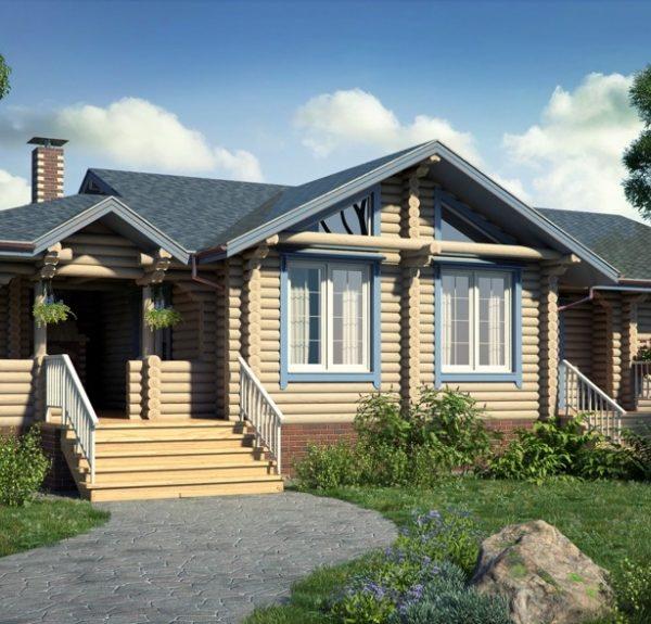 Проект дома из бревна Аден