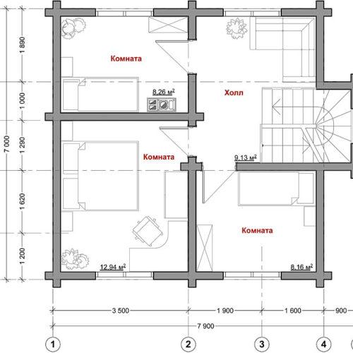 план каркасного дома Антоновка