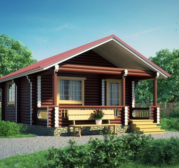 Проект дома из бревна Арктик