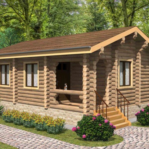 Проект дома из бревна Астрахань