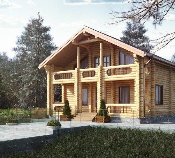 Проект дома из бревна Авиньон
