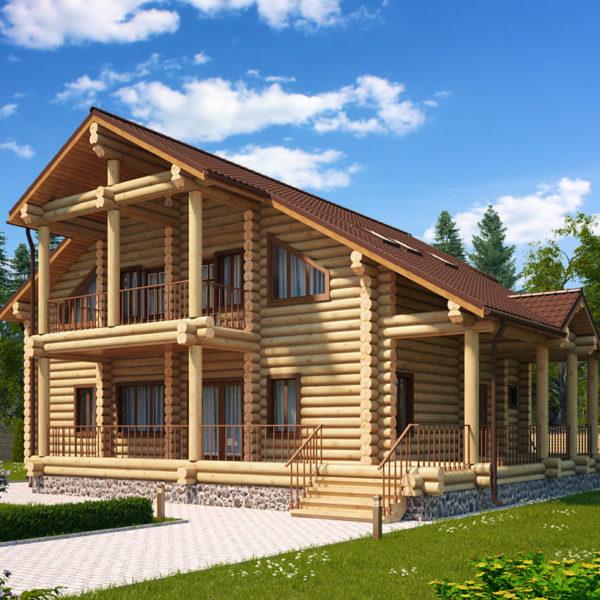 Проект дома из бревна Беатриса