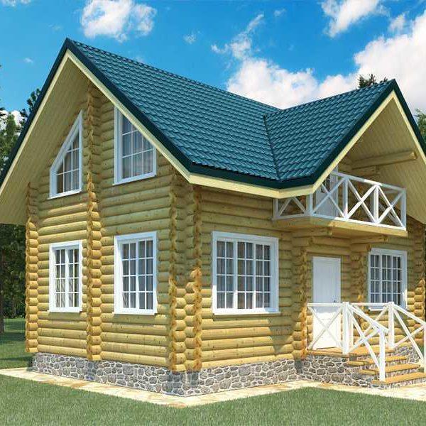 Проект дома из бревна Бор