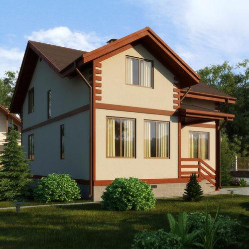 Проект каркасного дома Бренд