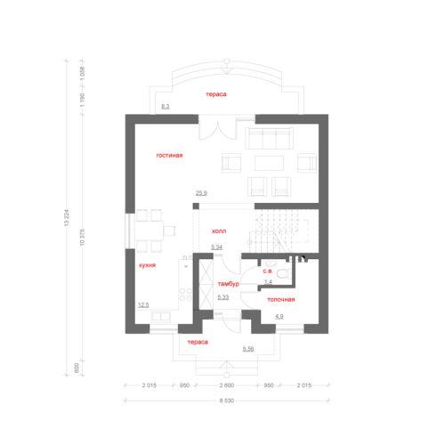 план каркасного дома Чечер
