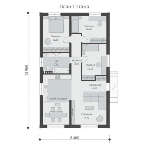 План кирпичного дома Реарден