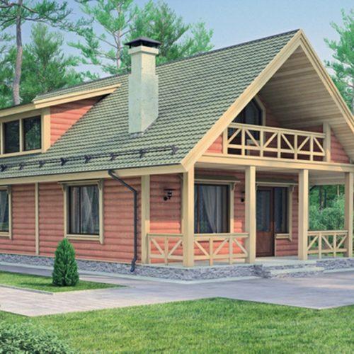 Проект дома из бруса Глеб