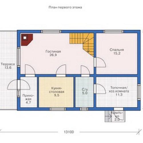 План дома из бруса Глеб