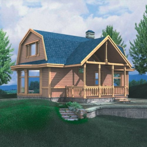 Проект дома из бруса Градислав
