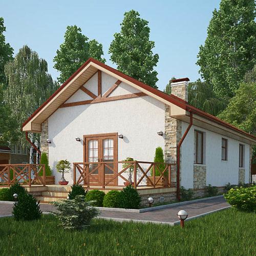 Проект каркасного дома Кармен