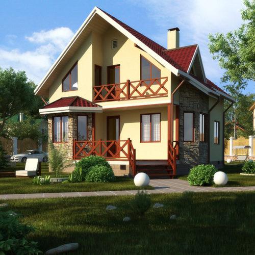 Проект каркасного дома Лада