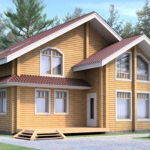 Проект дома из бруса Леонид
