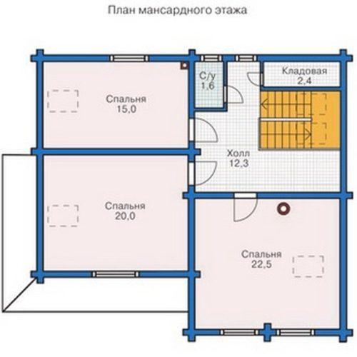 План дома из бруса Леонид