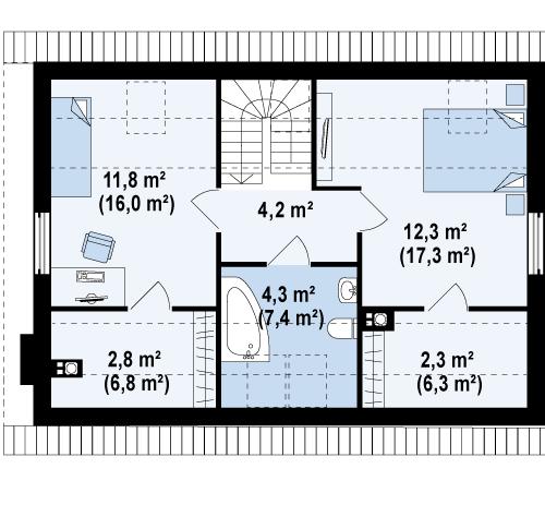 План керамического дома Надежда