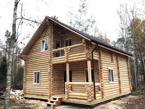 Строительство дома из бревна объект 2