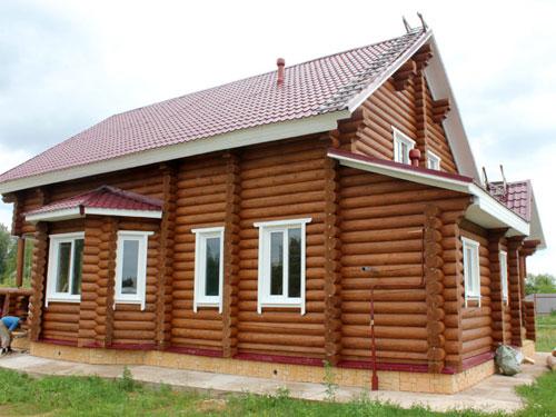 Строительство дома из бревна объект 3
