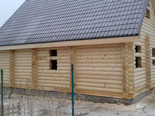Строительство дома из бревна объект 4