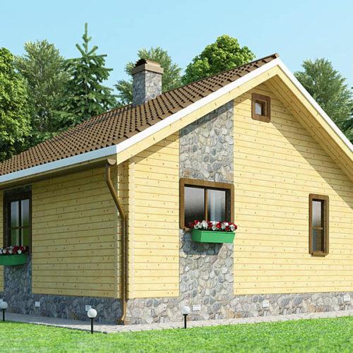 Проект дома из бруса Олеандр