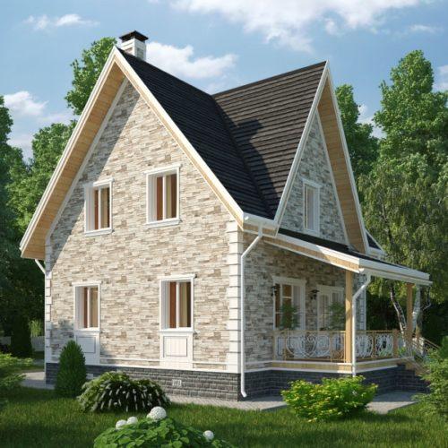 Проект дома из керамических блоков Рябушка