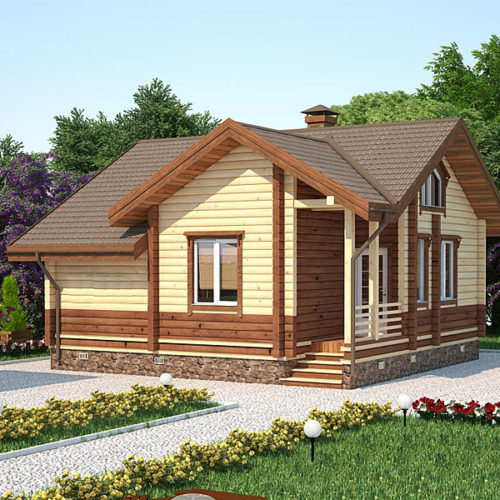 Проект дома из бруса Сокол