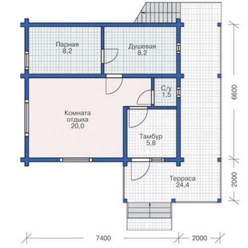 План дома из бруса Сократ