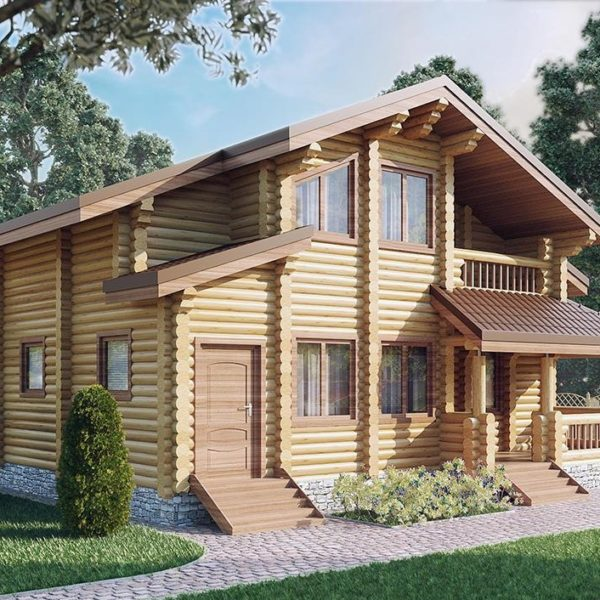 Проект дома из бревна Велона