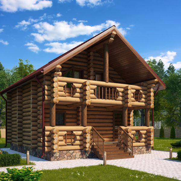 Проект дома из бревна Весус