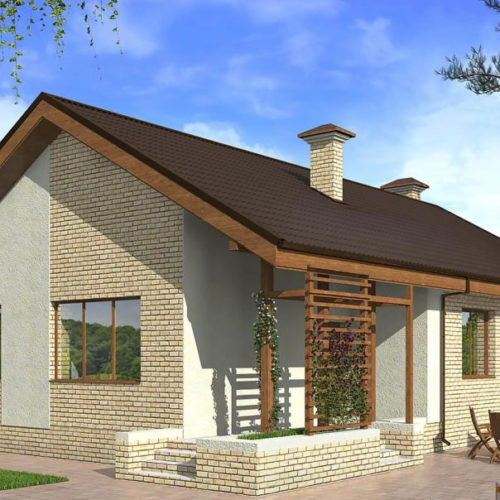 Проект кирпичного дома Оптима