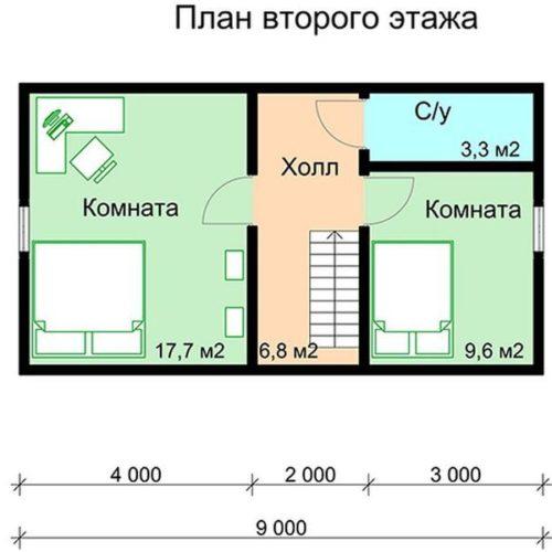 План каркасного дома Гелиос
