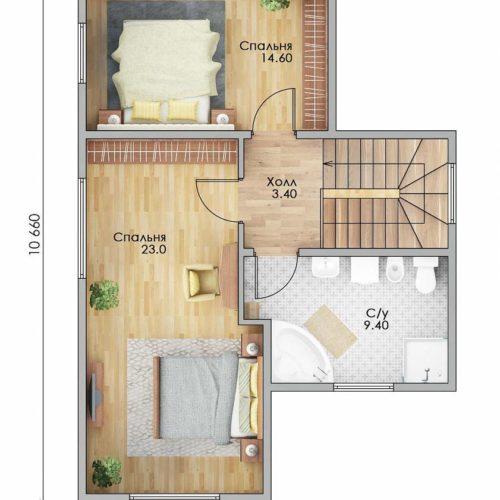 План каркасного дома Гудзон