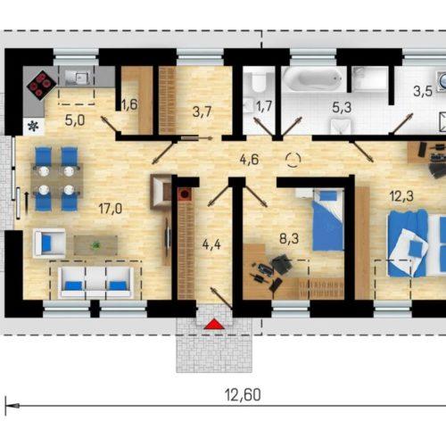 План каркасного дома Калгари