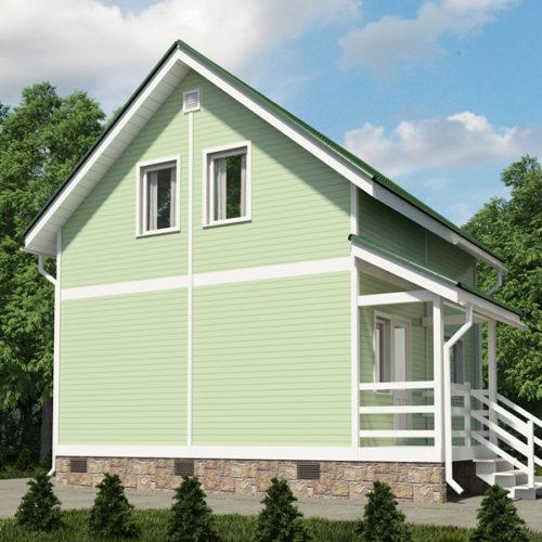 Проект каркасного дома Кнопка
