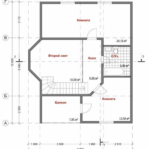 План каркасного дома Нави