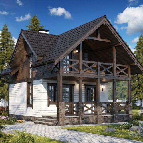 Проект каркасного дома Онтарио