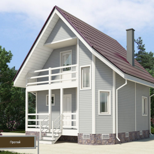 Проект каркасного дома Протей