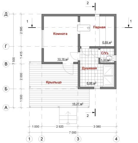 План каркасного дома Толиман