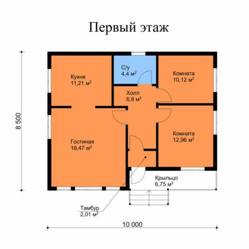 План каркасного дома Уилсон